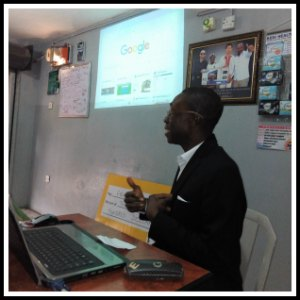 Olabode Oruku during an internet marketing training session