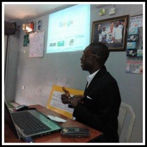 Olabode Oruku during an internet marketing training session